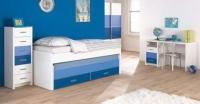 Детска стая - в бяло и нюанси на синьото