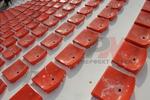 Пластмасова седалка за стадиони на склад